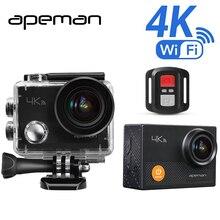 Apeman экшн Камера A77 4 К 1080 P подводная экшен фотоаппарат профессионал Wi-Fi спорт шлем видео Камера с HD видеокамера дистанционное контроллер один аккумулятор