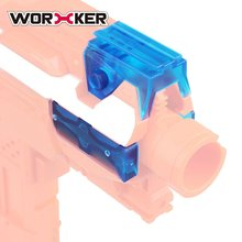 WORKER DIY Toy Gun Parts Top & Side Rail Adapter Base Set for Nerf Stryfe Transparent Blue Modified Toy Gun Accessories Supplies