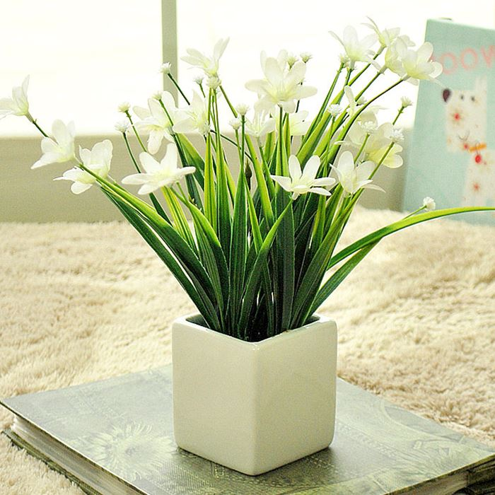 Diy orchid artificial flower for wedding decoration silk for Artificial flowers decoration home