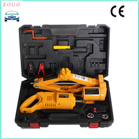 auto repair tool electric scissor lifting jack with impact wrench for unscrew