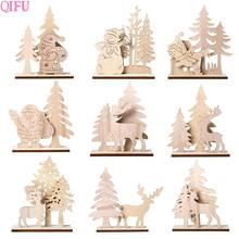QIFU Merry Christmas Party Decorations Tree Santa Claus Table For Home 2019 Navidad Decor