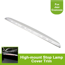 font b Car b font Exterior Accessories High Mounted Stop Lamp Decorative Chrome Trim for