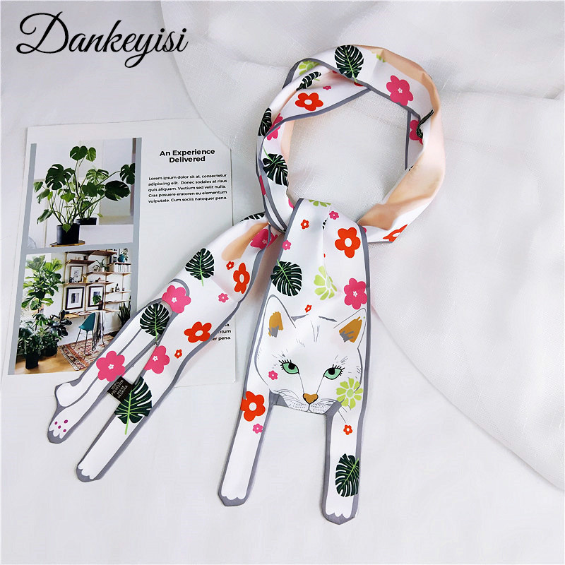 DANKEYISI New Women Scarf Female Long Funny Cute Women Scarf Boy Girl Scarves Women Silk Scarves Designer 3D Animals Shape