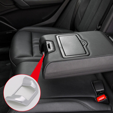 For Audi Q5 2018 ABS Plastic Interior Rear Seat Armrest Switch Button Cover Trim 1pcs Car Styling Accessories