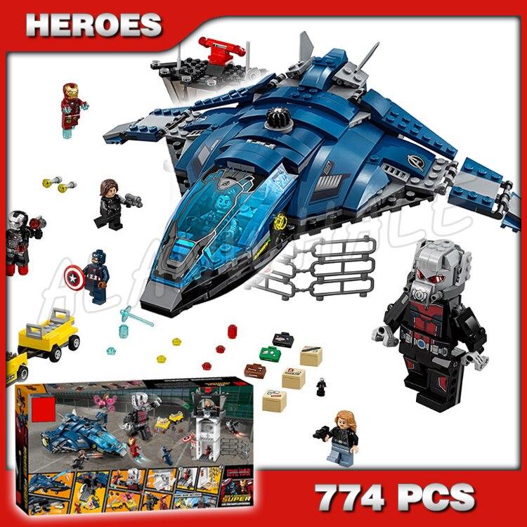 774pcs Captain America Civil War Airport Battle Block Set Iron Man Winter Soldier DIY Building Blocks Toys Compatible with Lego lego super hero airport battle