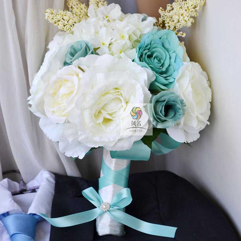 Голубая свадьба букет доставка