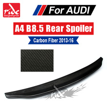 Carbon Fiber Rear Trunk Boot Lip Spoiler For Audi A4 A4a A4Q Coupe standard 2013-16 B8.5 Belgium Style wing