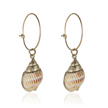 European and American new shell earrings  for women conch handwork accessories fashion earring SH09