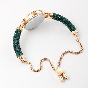 Image 3 - Kimio simples mulher pulseira relógio senhoras diamante cristal banda relógios de quartzo moda luxo à prova dwristwatch água relógio de pulso 2019 novo