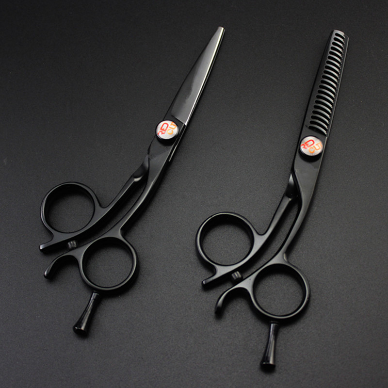 professional Japan 440c 5 inch small hair scissors cutting barber makas scissor curved thinning shears hairdressing scissors set professional 6 inch japan 440c hair scissors cutting shears salon scissor thinning sissors barber makas hairdressing scissors