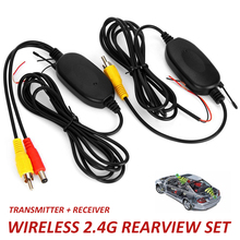 2,4 ГГц беспроводной заднего вида камера RCA видео передатчик и приемник комплект для автомобиля камера заднего вида Мониторы DC 12 В