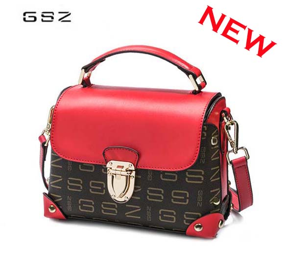 GSZ brand leather woman bag new fashion street girl shoulder bag Casual party lady messenger bag Small party bag free shipping free shipping new fashion brand women s single shoulder bag lady messenger bag litchi pattern solid color 100