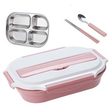 HS040 Fashionlunch box food container 304 stainless steel grid 27*20*6cm