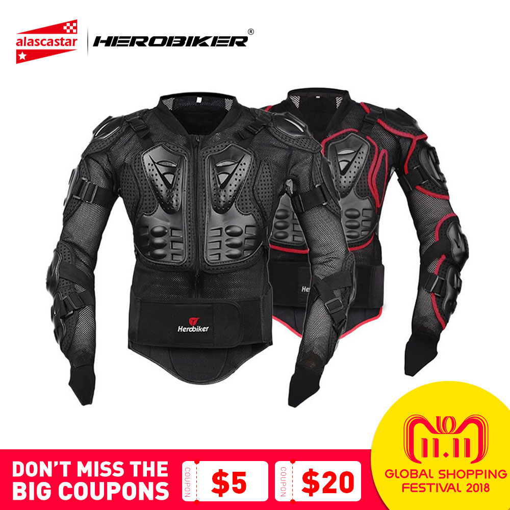 HEROBIKER Motorcycle Jacket Full Body Armor Equipement Motocross Off-Road Protector Protective Gear Clothing S/M/L/XL/XXL/XXXL herobiker armor removable neck protection guards riding skating motorcycle racing protective gear full body armor protectors