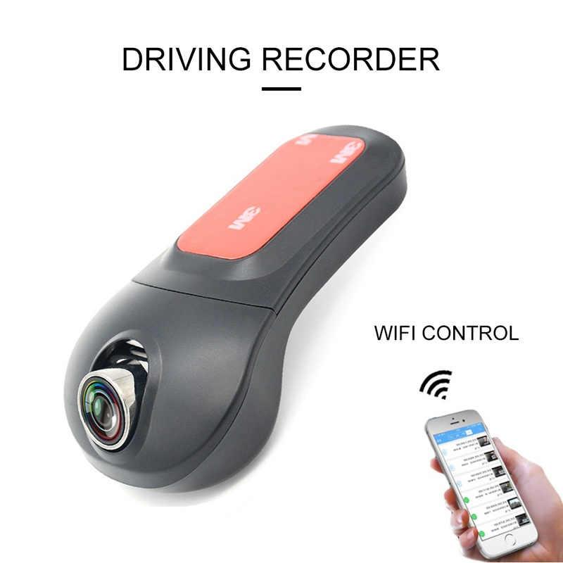 Portátil V23 Auto WiFi grabadora de conducción Dropshipping 12 millones de píxeles HD 1080P visión nocturna lente teléfono conectar soporte coche DVR