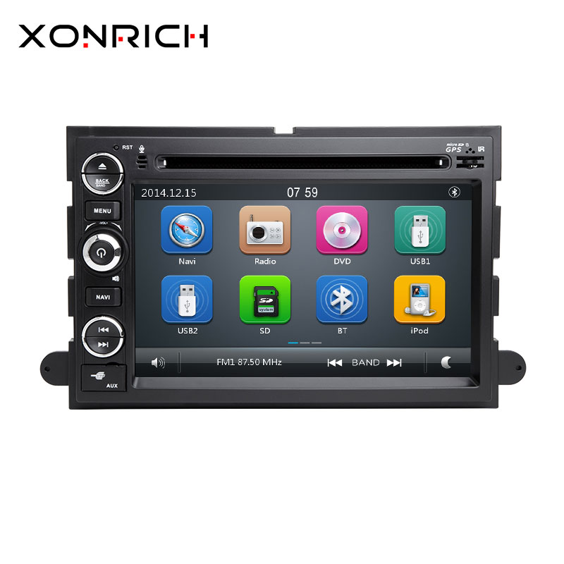 2 Din Car DVD Player GPS Navigation for Ford F150 F250 F350 F450 <font><b>Mustang</b></font> Fusion Explorer Edge Escape Mercury 2005 2007 Screen 3G image