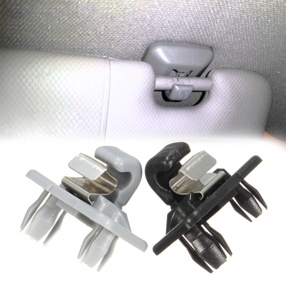 Interior Accessories Hlest Auto Roof Sun Visor Clip Holder Hook Stand Black /grey/silver For Audi Clip De Pare-soleil