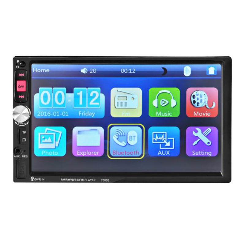 HD Bluetooth Touch Screen Car Stereo Radio 2 DIN FM/MP5/MP3/USB/AUX 7 inch 2 din HD car radio MP5 Player Digital Touch Screen niorfnio portable 0 6w fm transmitter mp3 broadcast radio transmitter for car meeting tour guide y4409b