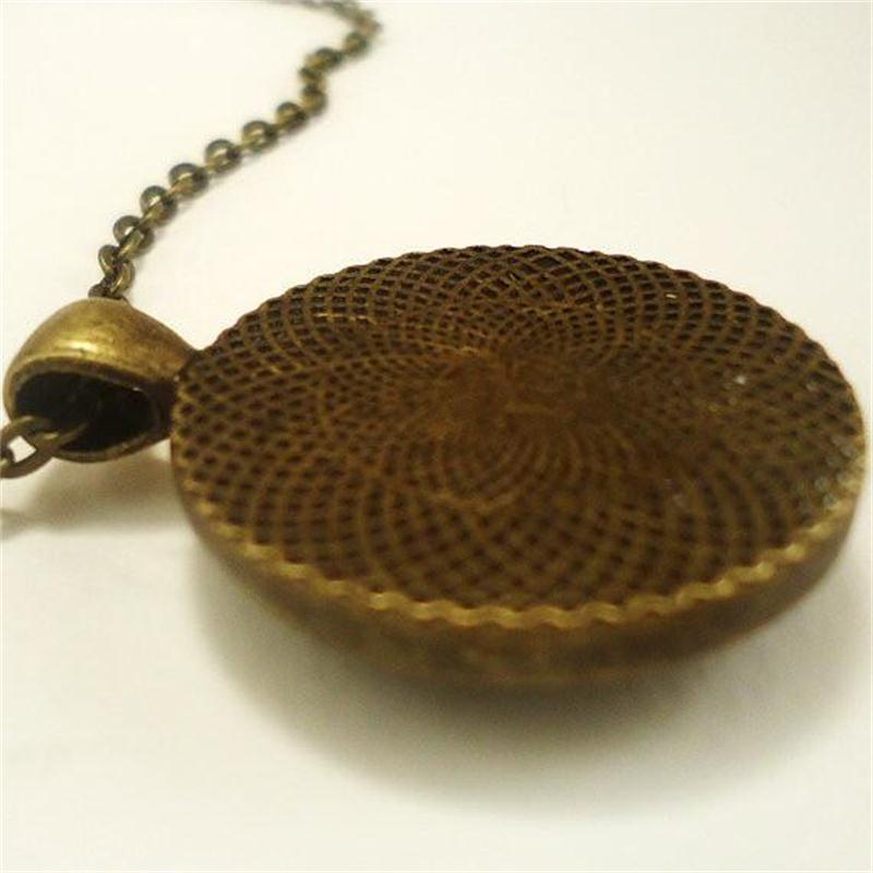Steampunk Sri Yantra Mandala Glas Dome Hängsmycke Halsband DIY - Märkessmycken - Foto 6