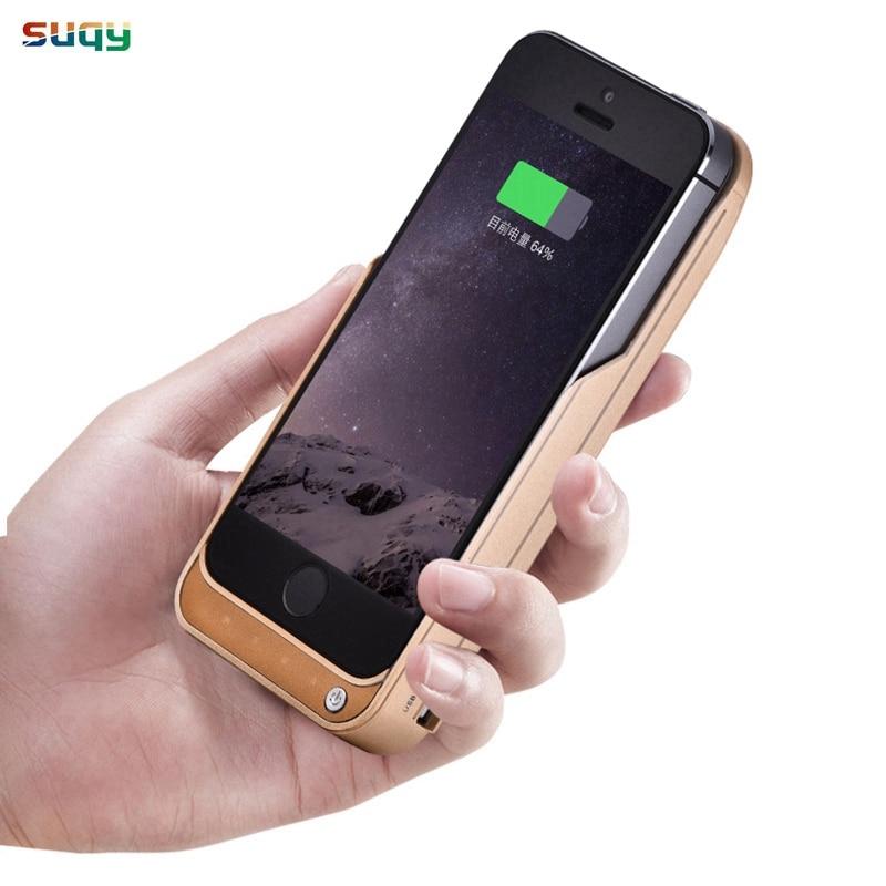 Suqy Batterie Chargeur Cas pour iphone 5 5g 5S se 4200 mAh accumulateur pour iphone 5 5g 5S 5se Batterie Cas avec support