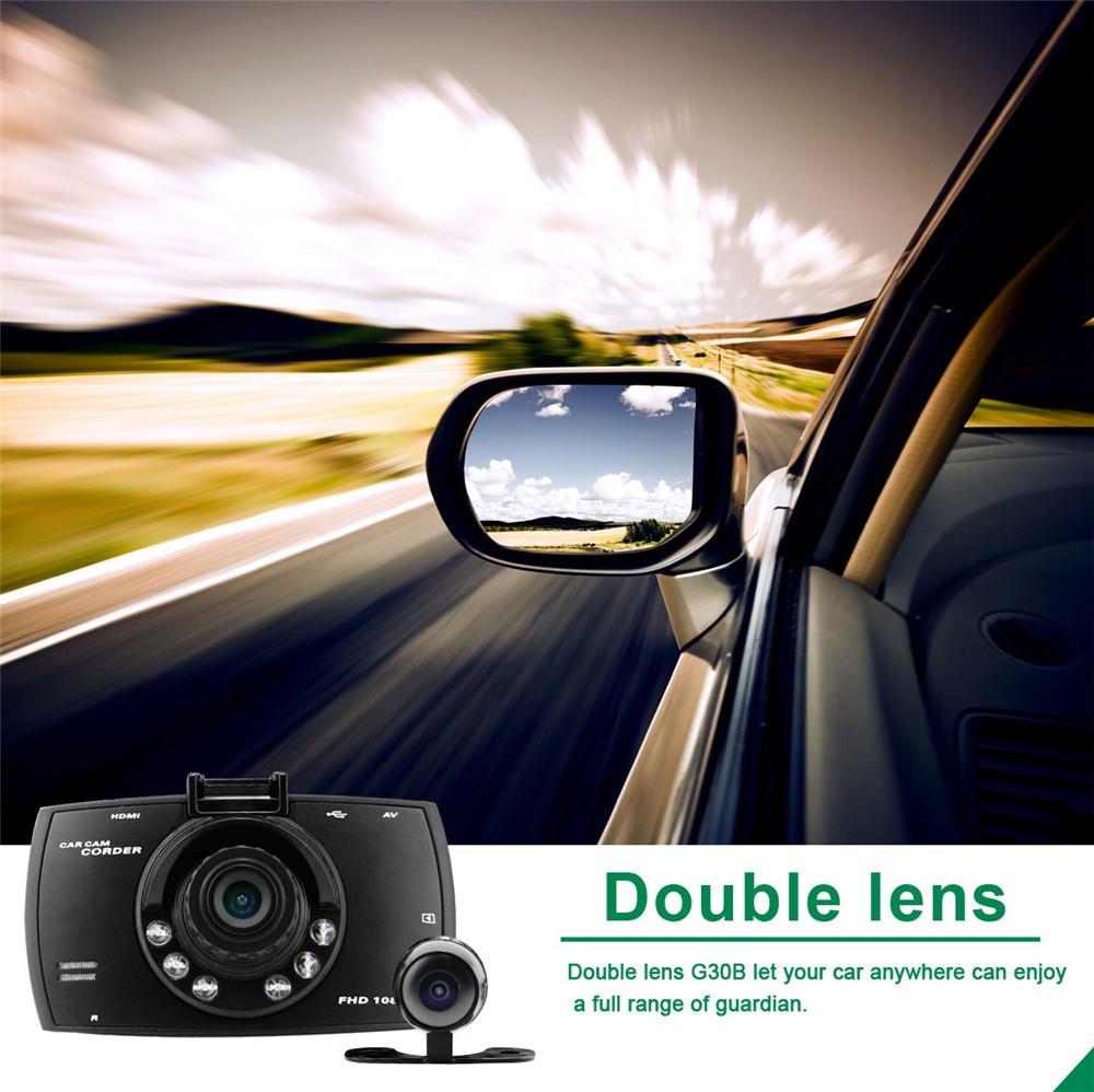 QUIDUX Dual lens G30 Car DVR Camera HD 1080P Video Recorder DVRs Night Vision Auto Dash cam Veicular Kamera two cameras Logger 5