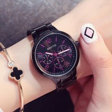 GIMTO Luxury Brand Fashion Quartz Watch Women Ladies Stainless Steel Bracelet Watches Casual Clock Female Dress Relogio 2017