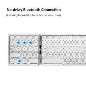 Image 5 - AVATTO Mới B033 Bluetooth Di Động Gấp Mini Bàn Phím, có Thể Gập Lại BT Không Dây Bàn Di Chuột Bàn Phím Dành Cho IOS/Android/Cửa Sổ Ipad Máy Tính Bảng
