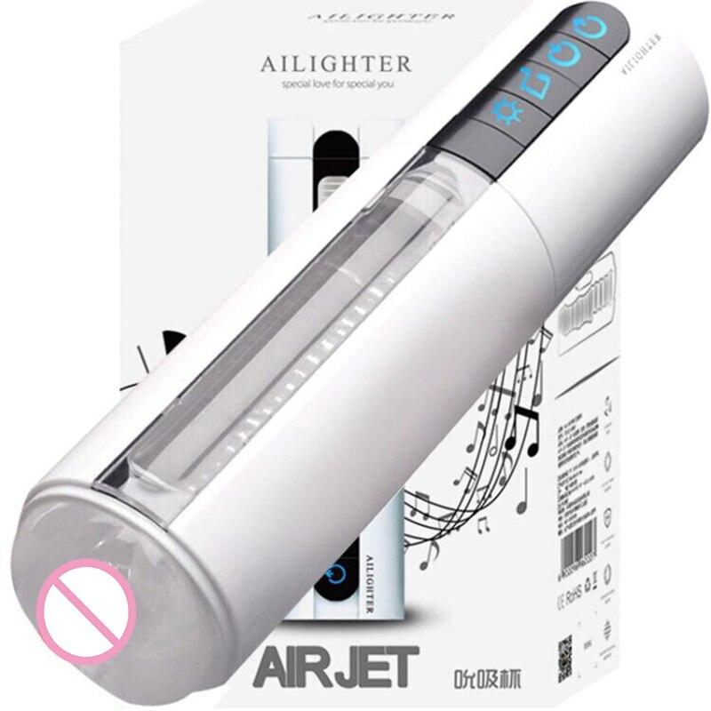 Machine de sexe de voix Inductive de masturbateur masculin de succion d'air Intelligent chauffant vibrant jouets de sexe de vagin artificiel pour les hommes