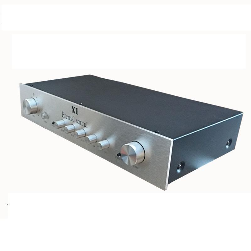 Finished Pure Class A HiFi FET Preamplifier Bluetooth Stereo Preamp XLR Output New 2016 new hifi nac152xs preamplifier diy kit base on naim pre amp for nap140