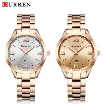CURREN 9007 Rose Gold Women Quartz Watches Date Display Ladies Top Brand Luxury Wrist Watch Girl Clock дамски часовници розово злато