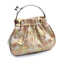2016 chinesische mode design brokat frauen handtasche metallrahmen abendgesellschaft tapisserie taschen luxus stickerei abendessen clutch T122