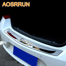 AOSRRUN For Chevrolet cruze 2009 2013 Sedan Car Stying After guard Rear Bumper Trunk Guard Door