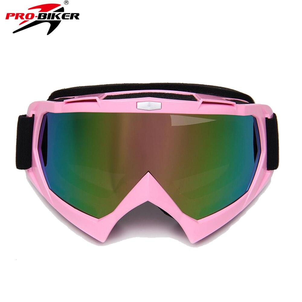 PRO-BIKER Motorcycle Glasses Skiing Eyewear Ski Glasses Men Women Snow Glasses Motocross Goggles Fashion Goggle 8 Colors