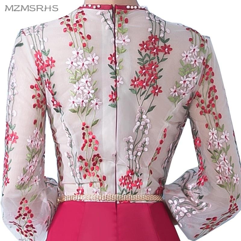 MZMSRHS Elegante 3/4 Ärmel Abendkleid Candy Farbe Spitze Kleider - Kleider für besondere Anlässe - Foto 5