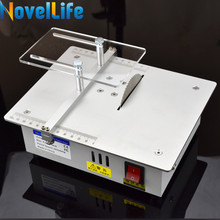 Mini Hobby Table Saw Handmade Woodworking Bench Saw DIY Wood Model Crafts Cutting Tool with Power Adapter HSS Saw Blade 3800RPM(China)