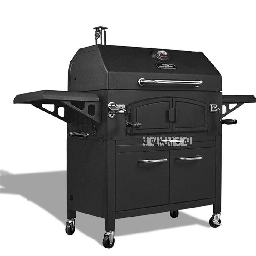 Nuovo Arrivo Outdoor Grande Griglia CF-E116005 Casa Mobile Da Cucina Villa Griglia A Carbone Più Spessa Barbecue Pits Per 10-20 Persone hot
