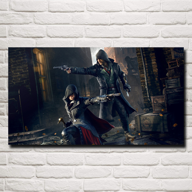 Assassins Creed Game Art Silk Fabric Poster Print Room Wall Decoration Pictures 11×20 16×29 20×36 Inches Free Shipping