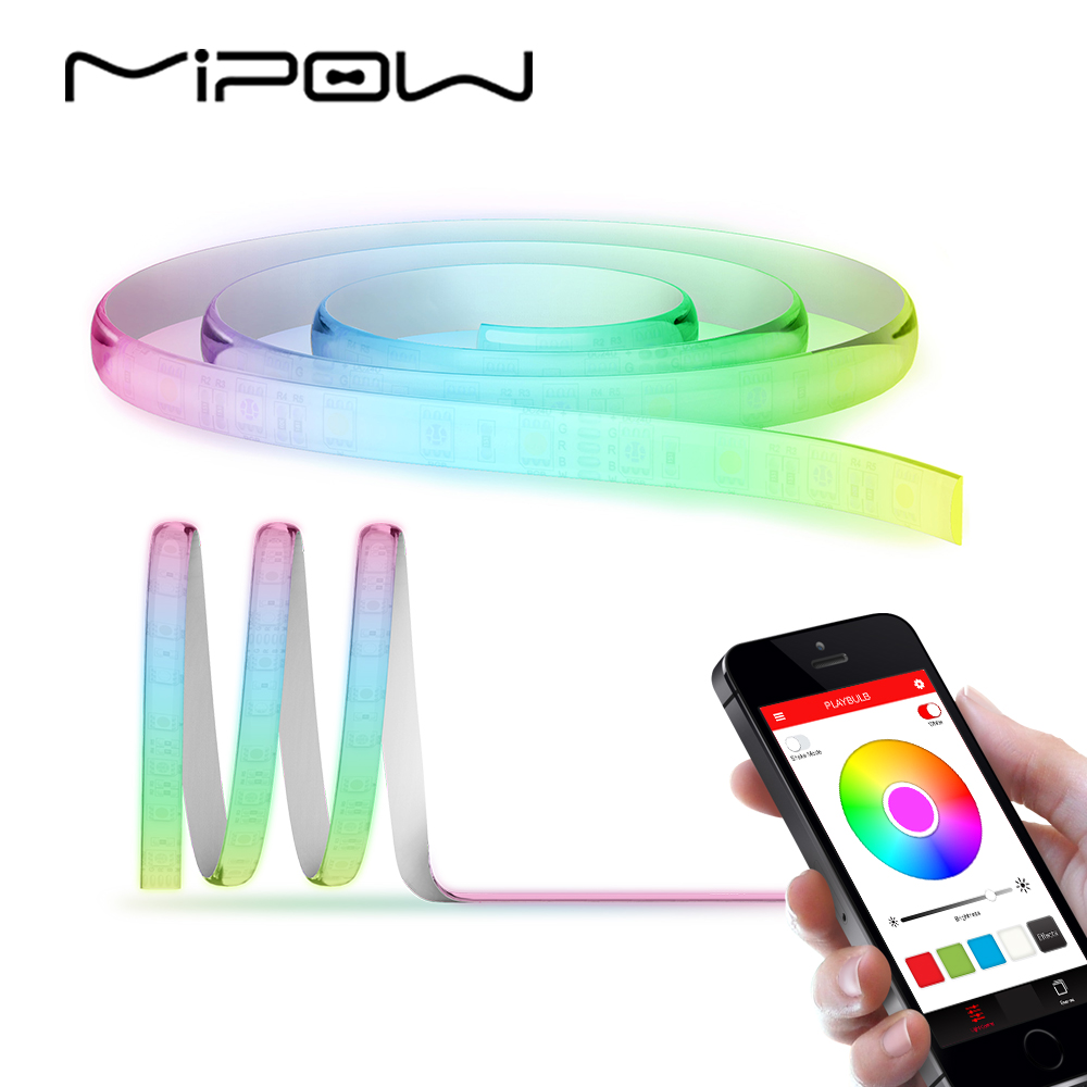 MIPOW 24V LED Strip Light 2M RGB Wifi Bluetooth Kontroll Inomhus Inredning Flexibel
