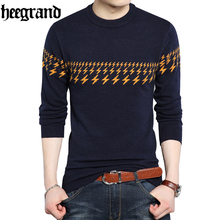 HEE GRAND 2017 Autumn And Winter Thick Warm Male Sweaters Casual Fashion Print Sweater Man High Quality Clothing MZL686