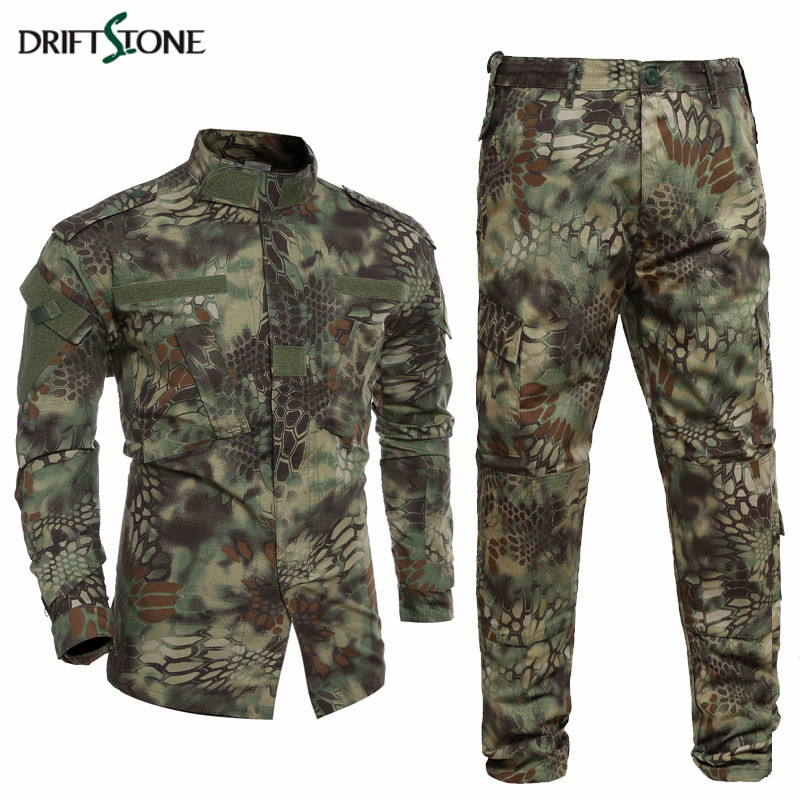 Kryptek Multicam Army Uniform Combat Uniforms Paintball Equipment Tactical Suit US Military Uinform Set Quality Uniforme Militar ...