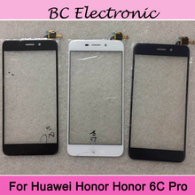 ФОТО 2pcs blue for huawei honor 6c pro  6cpro touch screen digitizer sensor replacement for honor6c pro touch panel with flex cable