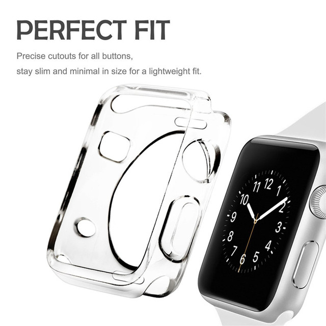 Soft TPU Protective Case For Apple Watch Series 1 2 Bumper Cover Case For iWatch 38 mm 42mm Sport Edition Nike Watch Accessories