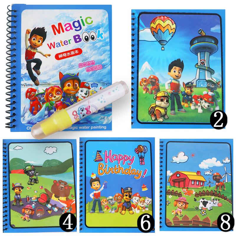 New Arrival  Random Choose 1pcs Children Magic Water Book Can Be Reused Graffiti Coloring Book For Baby Gift