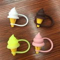 201 Cute 3D IceCream Color Phone stand holder Silicone Rubber Data Charging Cable Protector for iPhone 7 7plus 5 5S 6 6S 6Plus
