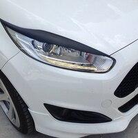 FRP Primer Car Headlight Eyebrows Cover Trim Sticker For Ford Fiesta MK8 2013 2015