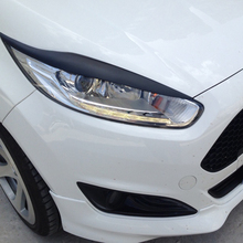 FRP Primer Car Headlight Eyebrows Cover Trim Sticker for Ford Fiesta MK8 2013 2015