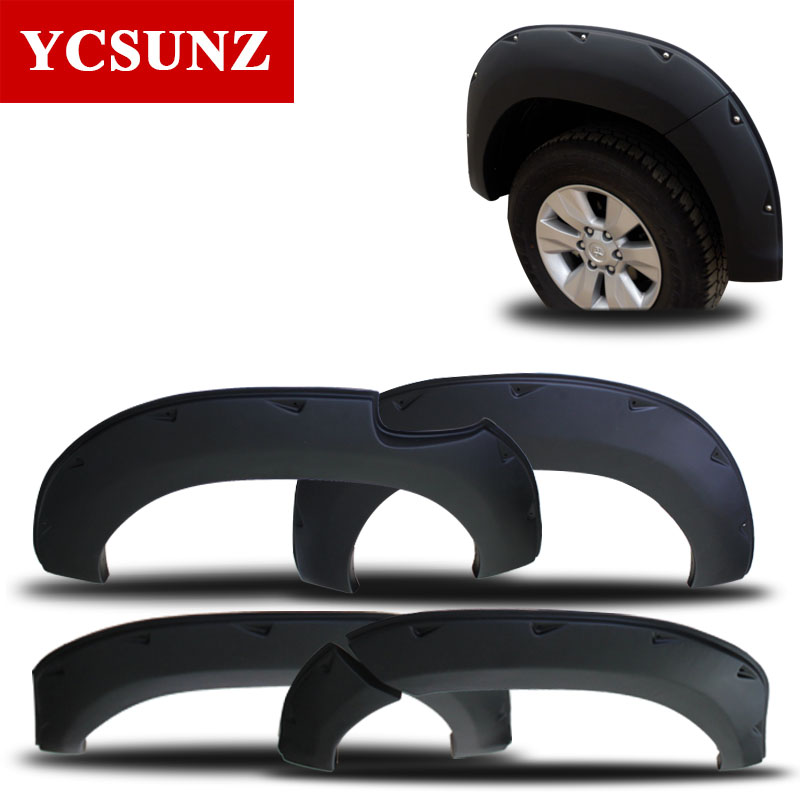 2016-2017 For Toyota Hilux 2016 Revo Arch Fender Flare Revo Accessories Black Mudguards For For Toyota Hilux Parts 2016 toyota hilux revo window accessories abs chrome window gate trim for toyota hilux revo 2015 2016 chrome decoretive trim