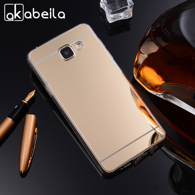 AKABEILA <font><b>Phone</b></font> <font><b>Cases</b></font> For <font><b>Samsung</b></font> Galaxy <font><b>A5</b></font> <font><b>2016</b></font> Duos A510F A510FD A5100 A510Y A510M SM-A510F A510 Soft PC Mirror <font><b>Case</b></font> Covers image