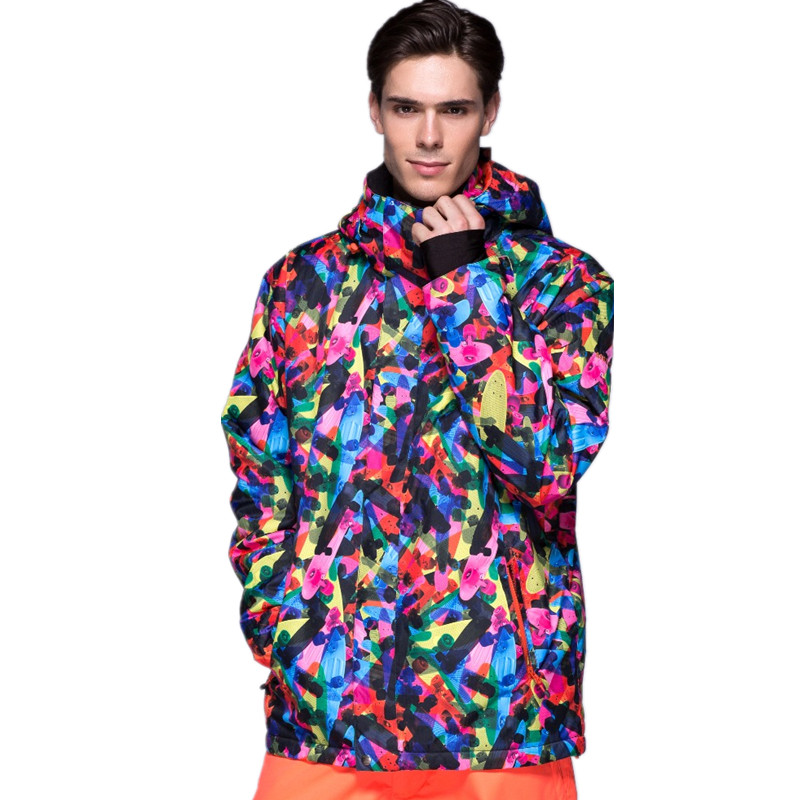 Gsou Snow Ski Jacket Men Snowboard Jacket Warm Snowboarding Suit Male Winter Snow Coat Waterproof 10000 Outdoor Skiing Clothes extra thick ski synthetic jacket warm hood snow sport men winter coat women skiing snowboard outdoor clothes waterproof 2019 new