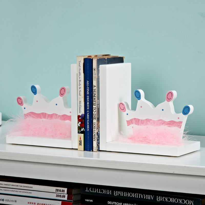 Crown Design Bookends Book Ends Shelf